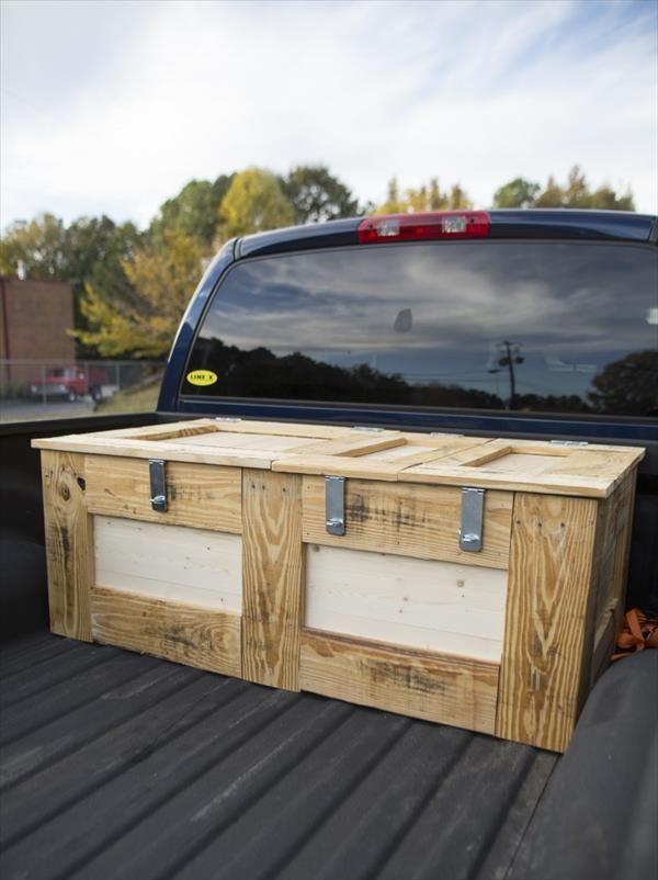 image result for homemade truck tool box