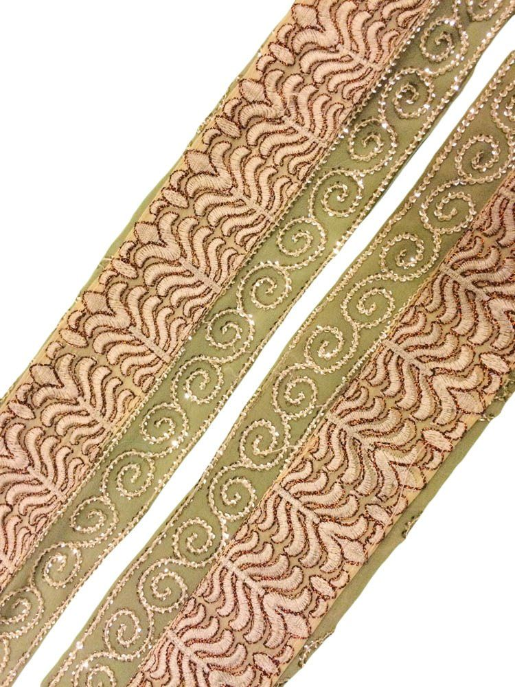Vintage Sari Border Indian Craft Sewing Trim Hand Embroidered Ribbon Lace