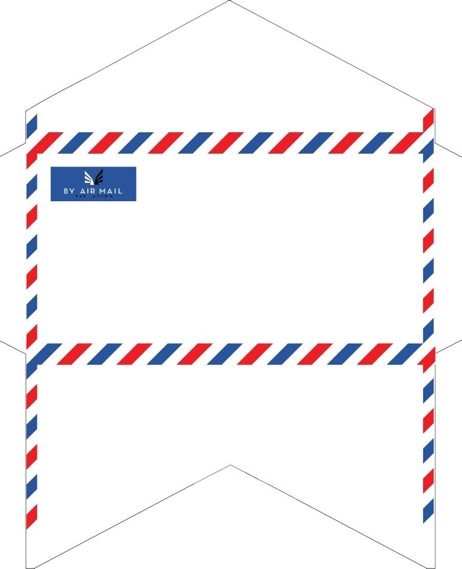 Envelope templates monarch size airmail 7 5 x 3 7 8 for Monarch envelope template