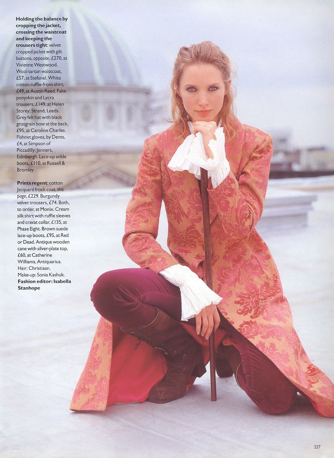 "Vogue UK October 1993 ""Artful Dodgers"" Model: Christy Turlington & Cecilia Chancellor Photographer: Arthur Elgort Fashion Editor: Isabella Stanhope Hair: Christian Makeup: Sonia Kashuk"