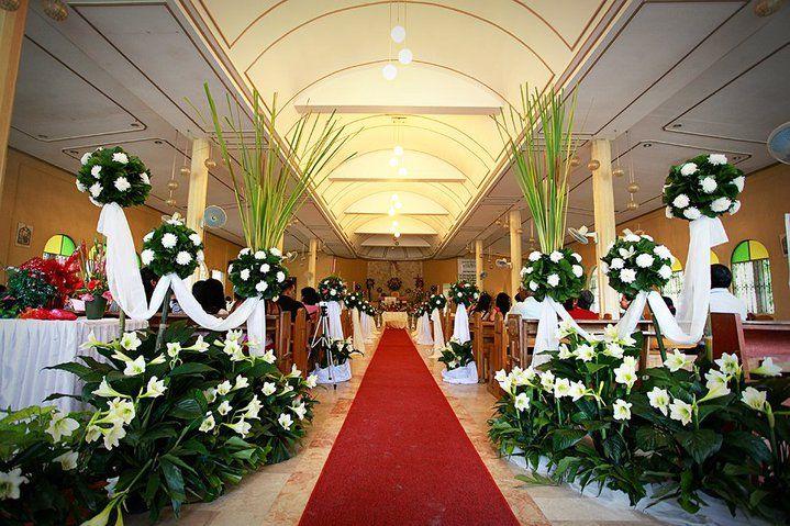Simple Church Wedding Decorations