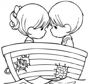 Desenhos Para Colorir Do Dia Dos Namorados 2 300x285 Precious