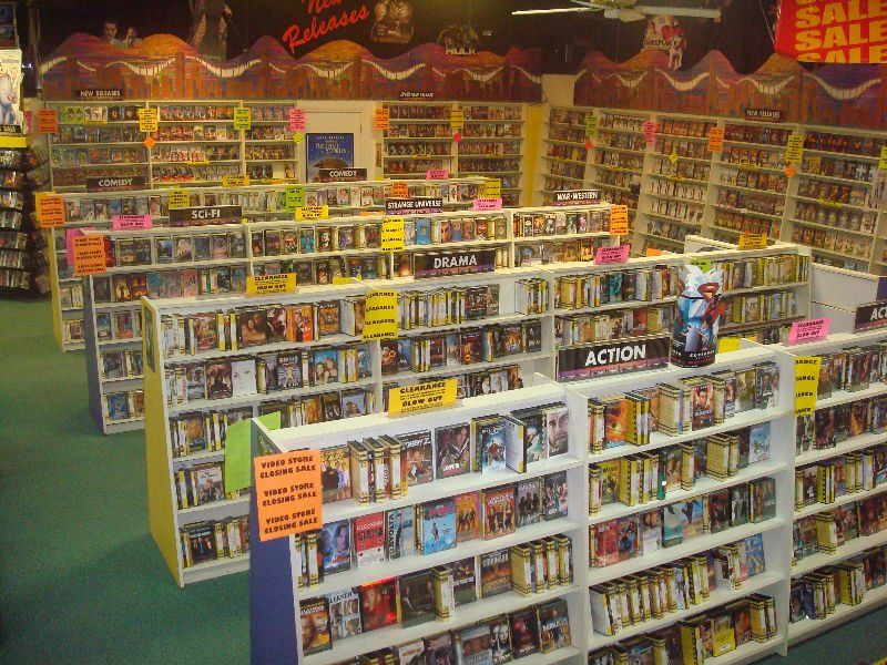 renting vhs videocassettes definitely a hallmark of the