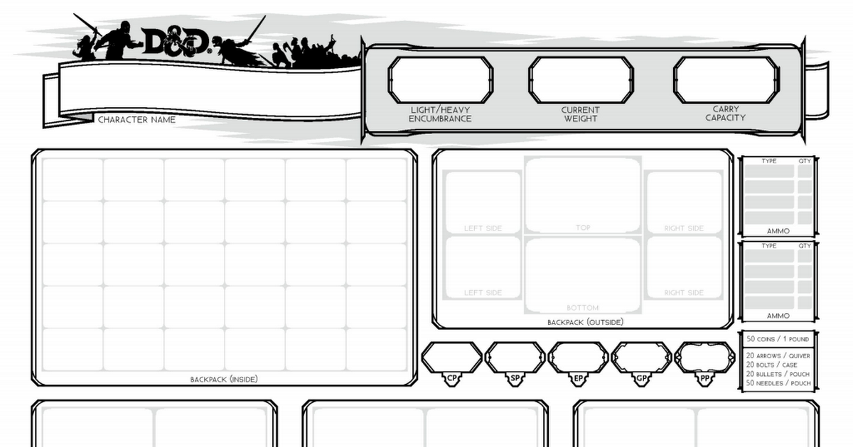 Inventory Tracker v2 pdf   D&D Character Sheets in 2019   Dnd