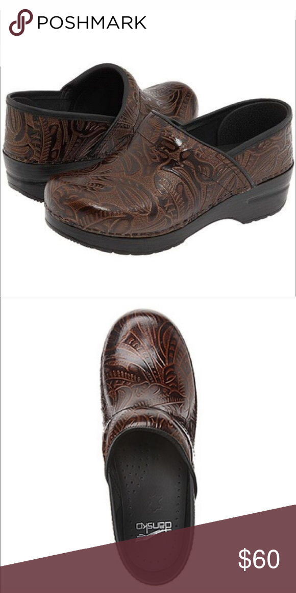 Size Chart Dansko Professional Tooled Tribal Leather Clog Nearly Perfect Condition