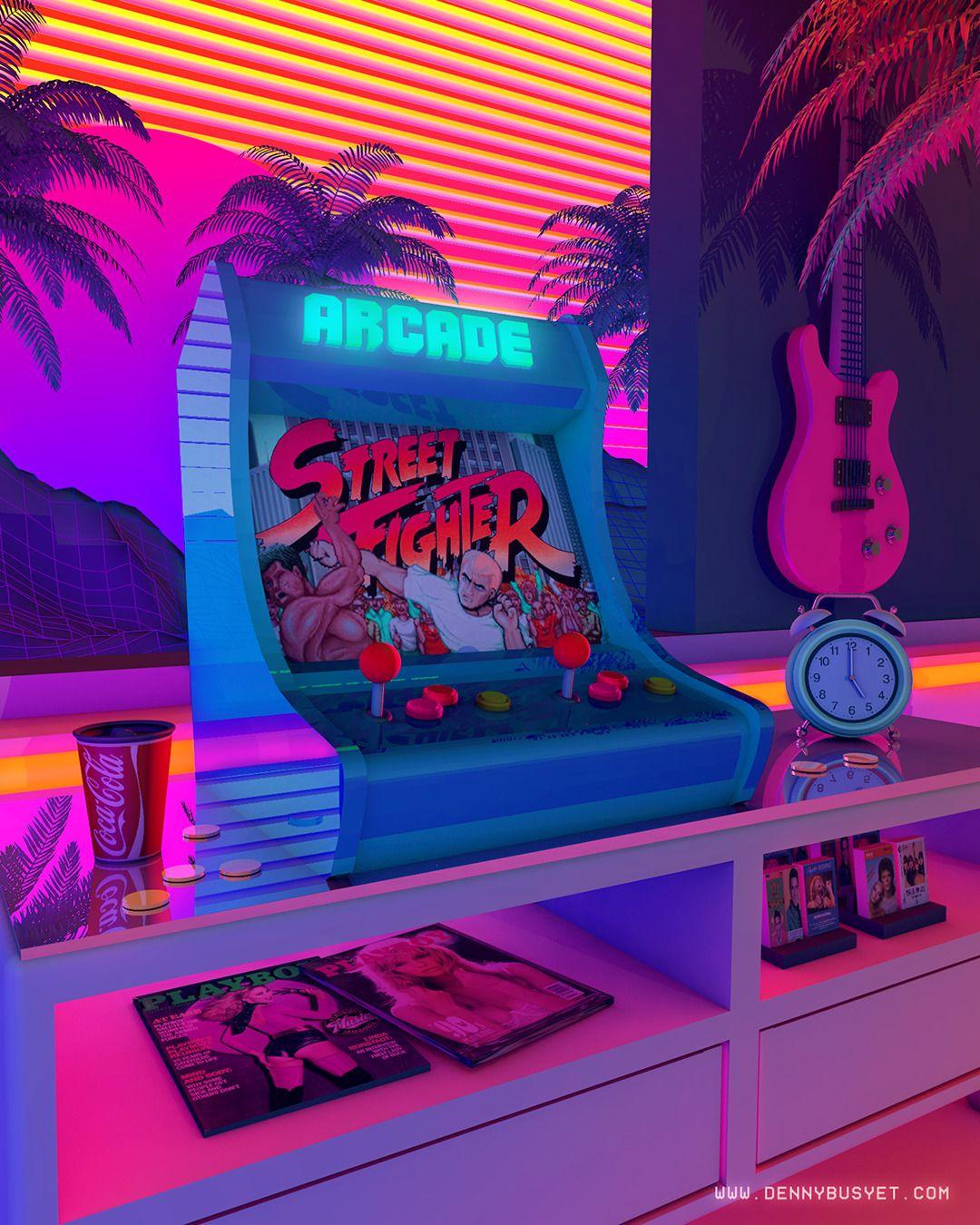 My Fave Game In My Childhood A R C A D E D R E A M S By Dennybusyet Arcade Retrowave Nostalgia Streetfight Cyberpunk Aesthetic Retro Waves Vaporwave