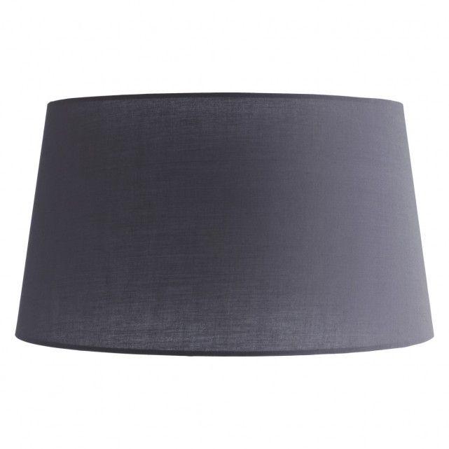 ARNETT Grey large tapered fabric lampshade 41 x 23cm