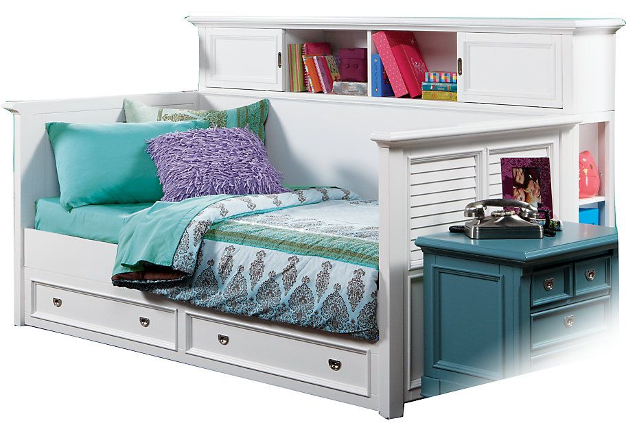Belmar White 7 Pc Daybed Bedroom | Daybed, Teen bedroom sets and PC