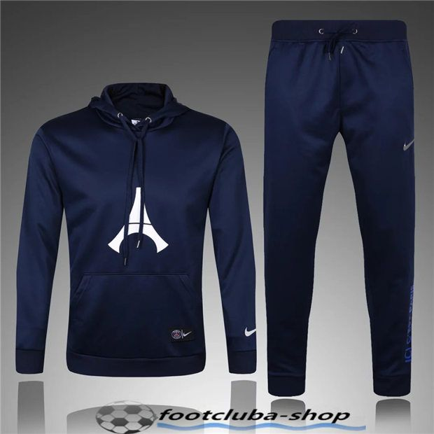 Sweat Capuche Survetement PSG Royal Blue 2017 pas cher  023208ef7ac