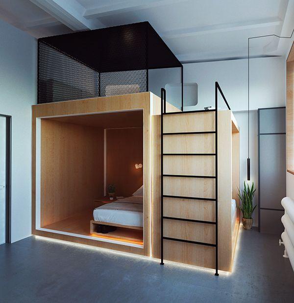 Hostel On Behance Hostels Design Tiny House Design Hostel Room