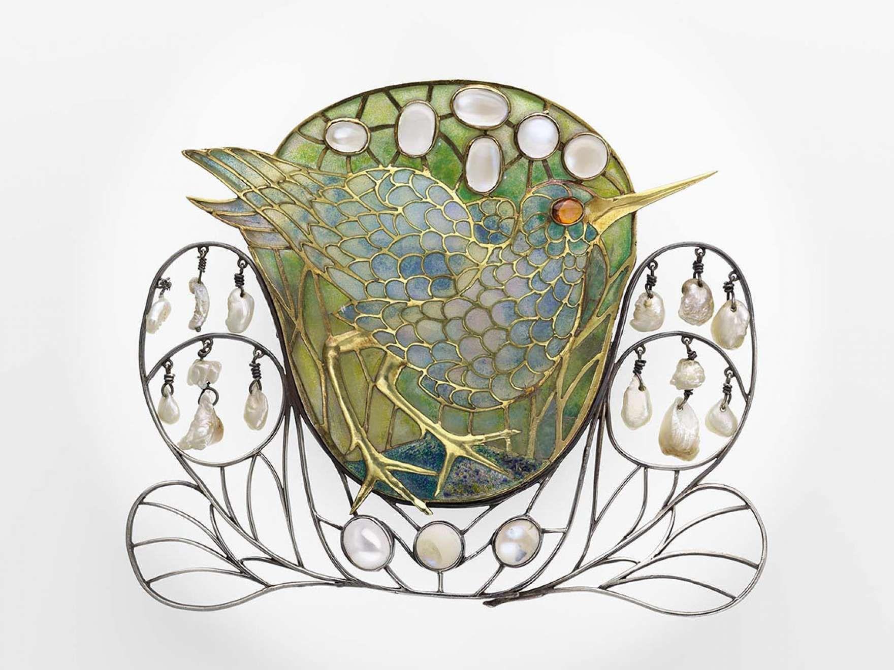 Marsh-bird brooch