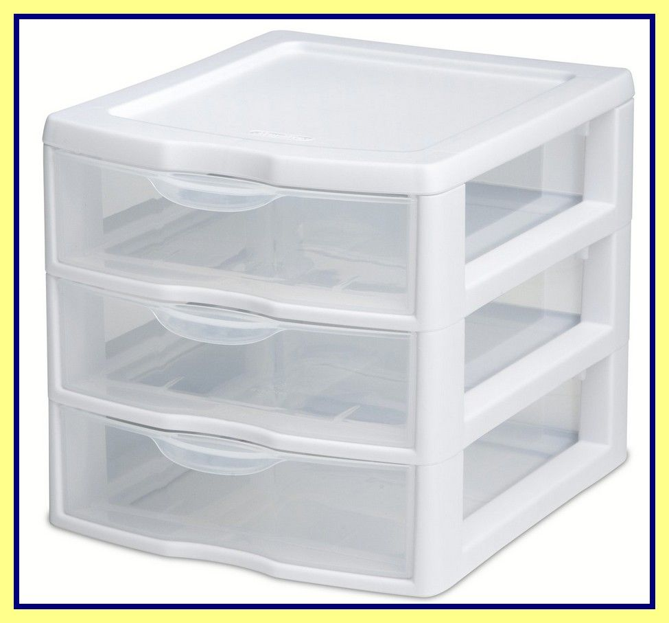 55 Reference Of Sterilite 3 Drawer Cart Narrow Di 2020 Cabinet Storage Plastic