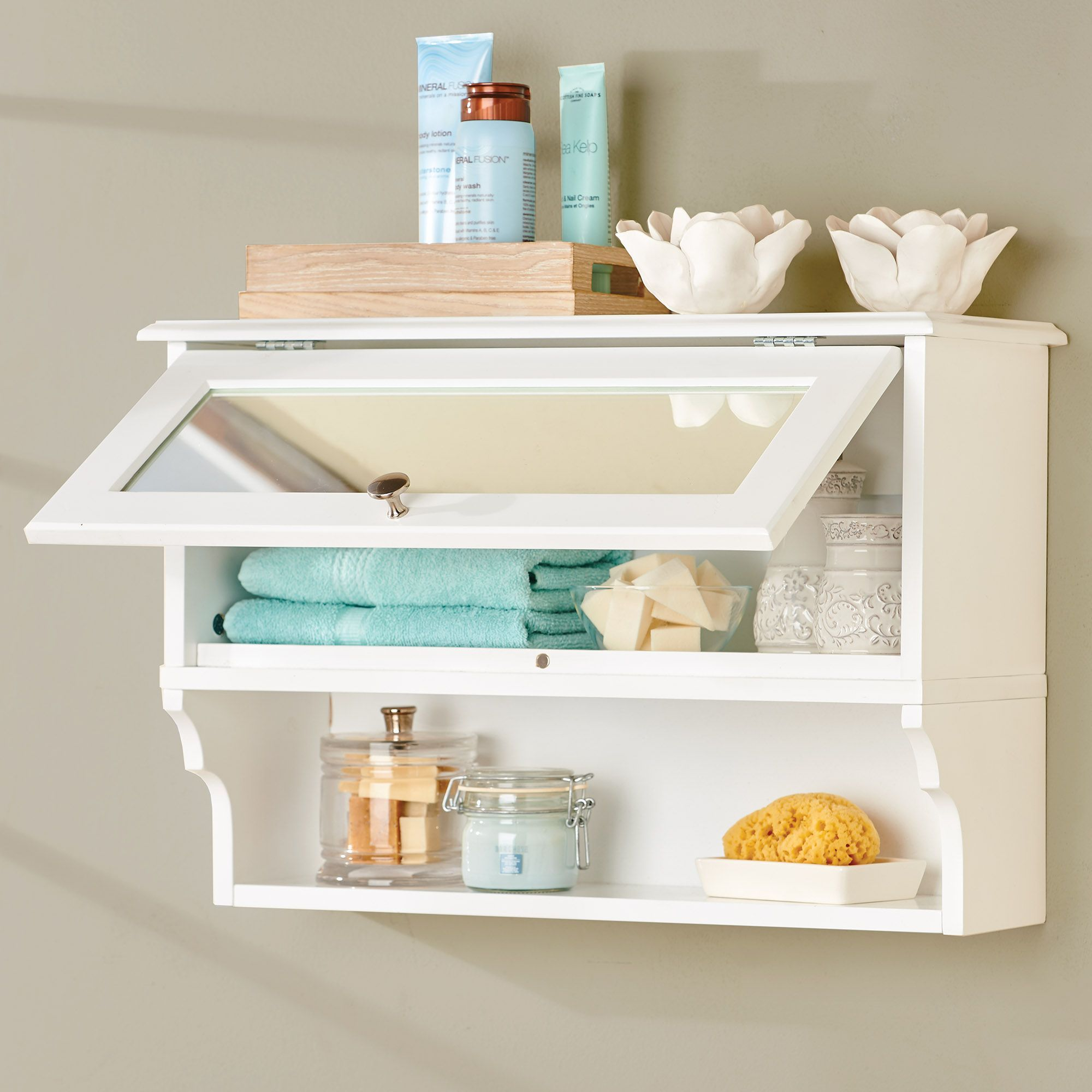 Weatherby Wall Cabinet With Mirror Bathroom Wall Storage Wall Cabinet Cupboard Storage