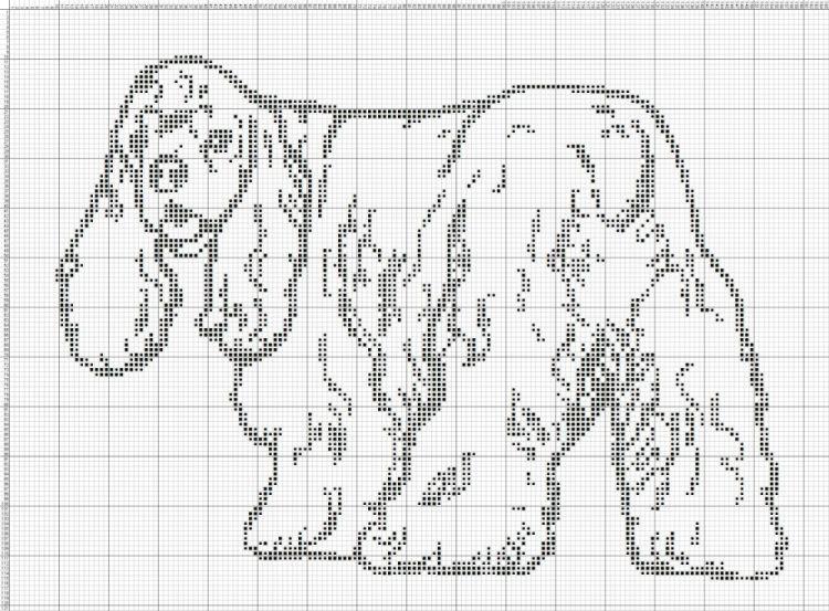 Gallery.ru / Фото #41 - собаки, схемы вышивок из интернета ...