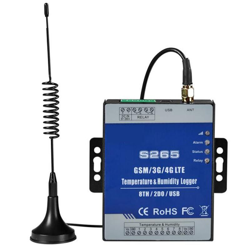 Temperature Humidity Remote Monitoring Data Logger Modbus Tcp Rtu 8 Channel Inputs High Low Alert Via Sms Call Gprs Data Logger Cellular Logger
