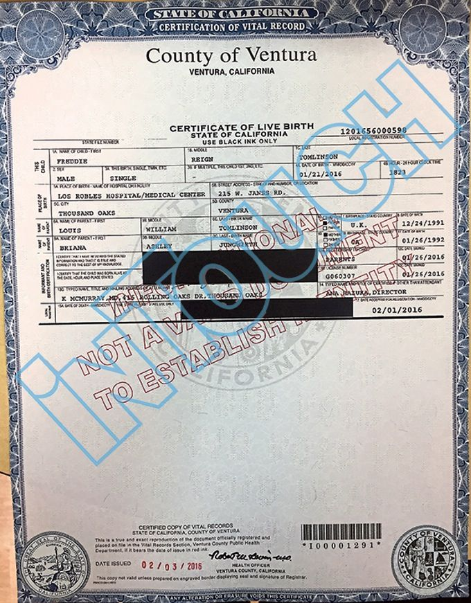 Exclusive louis tomlinsons sons birth certificate see the exclusive louis tomlinsons sons birth certificate see the document yadclub Image collections