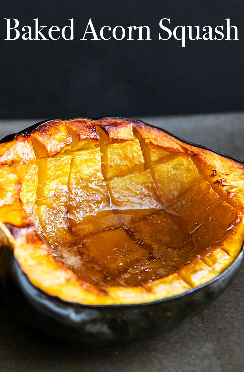 Baked Acorn Squash With Butter And Brown Sugar Recipe Acorn