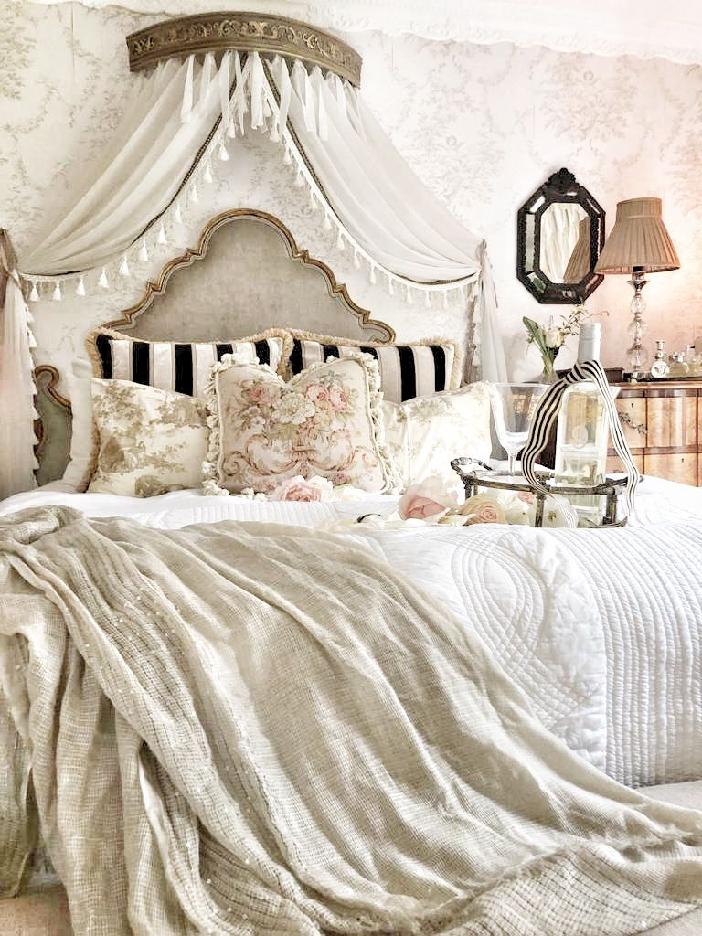 Romantic French Style Bedroom Ruffles And Rust French Style Bedroom Country Bedroom French Country Bedrooms