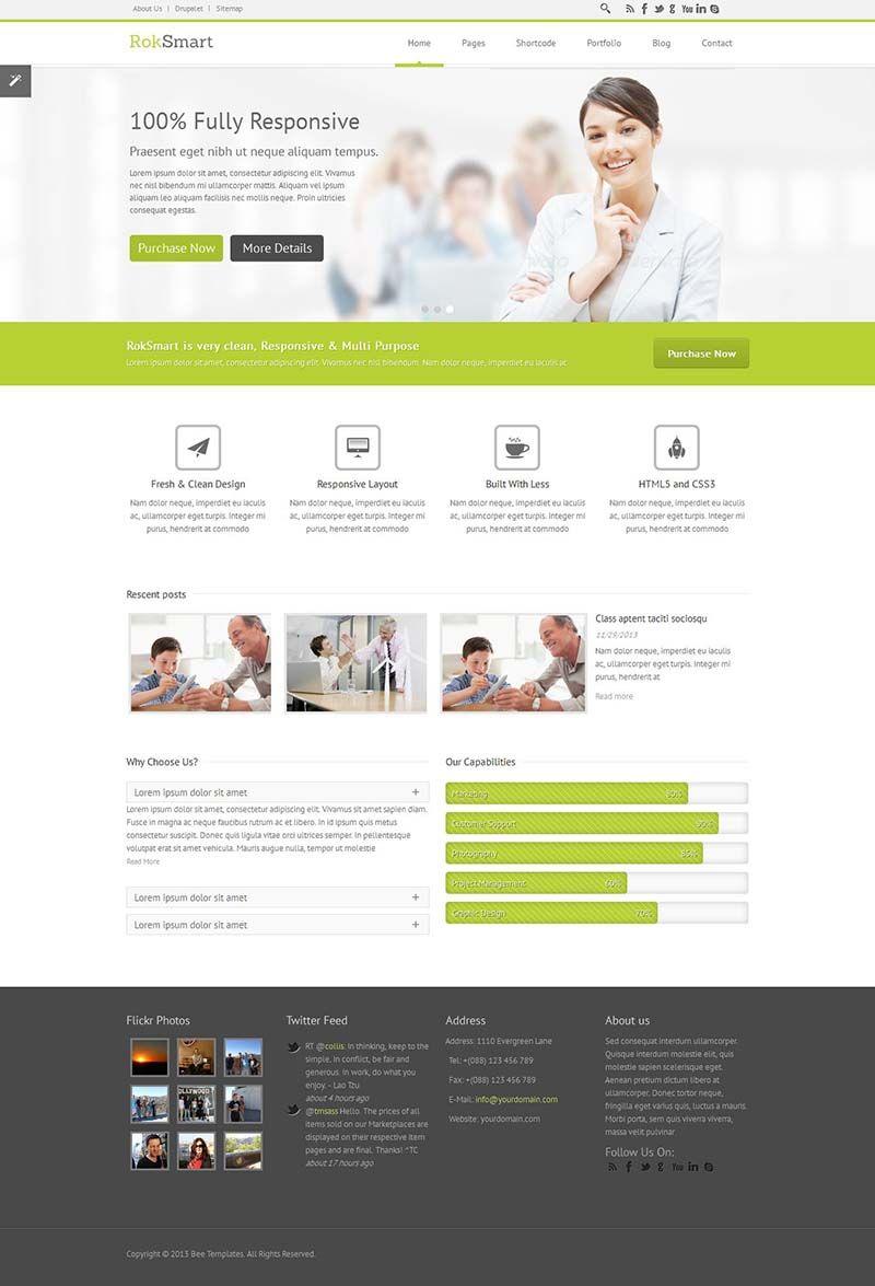 Roksmart Responsive Multi Purpose Drupal Business Theme Http