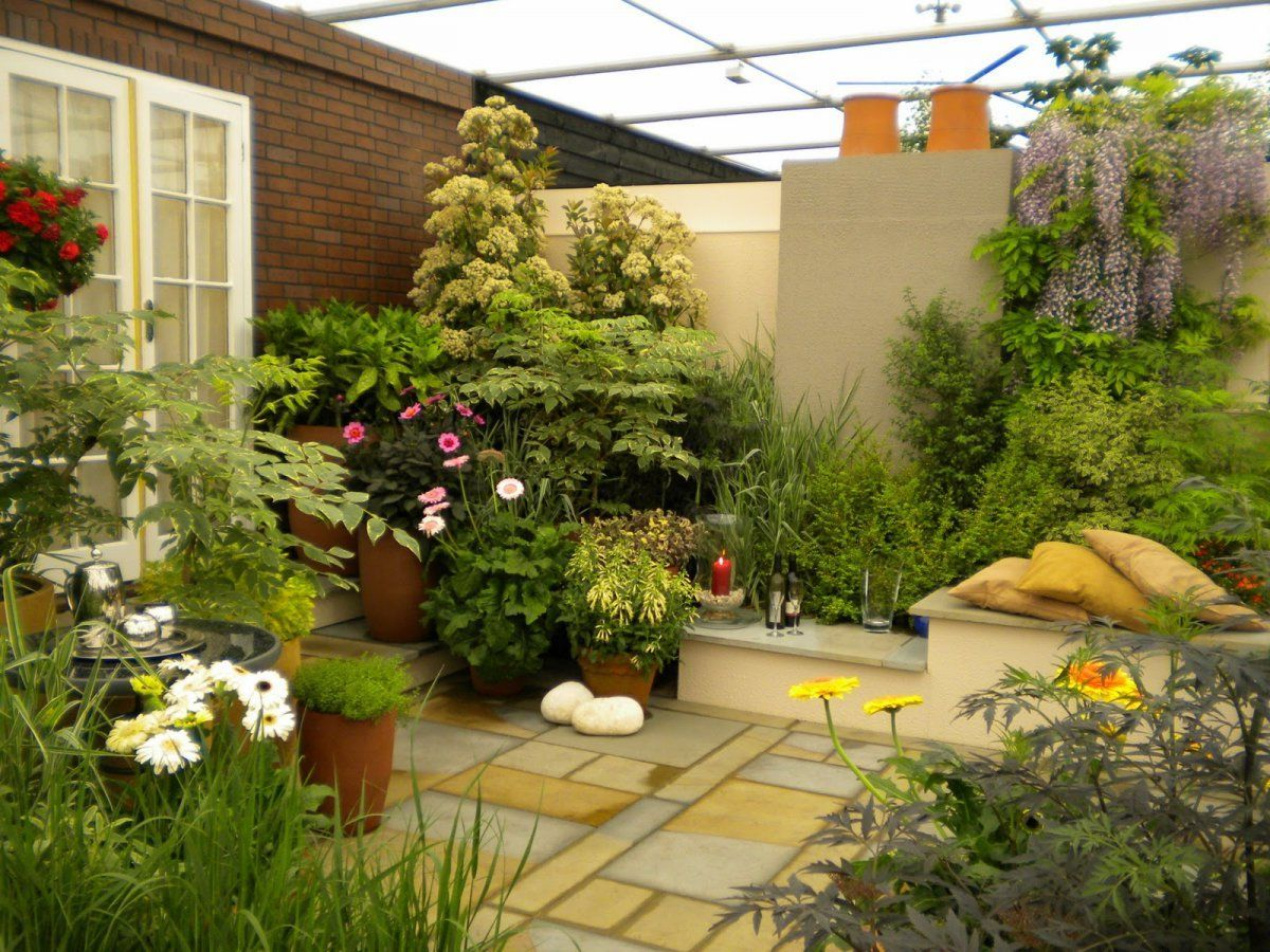 Garden Small E Designs With Balance Softscape And Hardscape Roof Patio