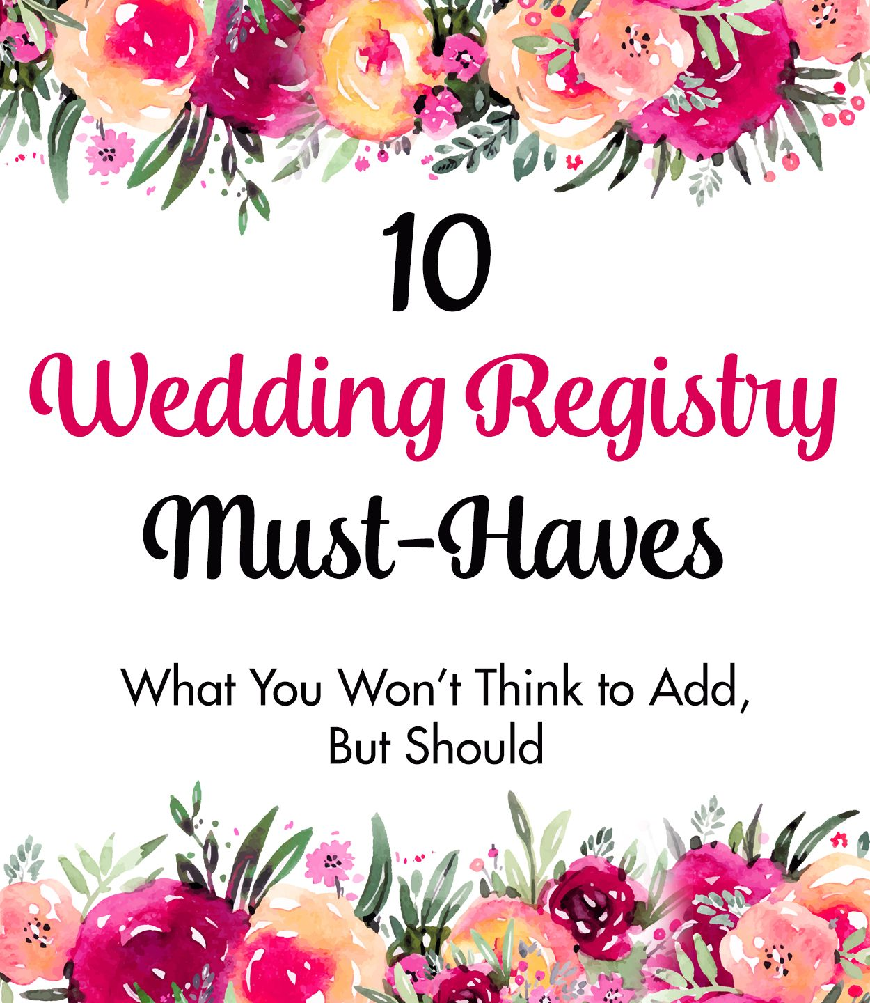 Must Have Wedding Picture List: 10 Wedding Registry Must-Haves: What You Won't Think To