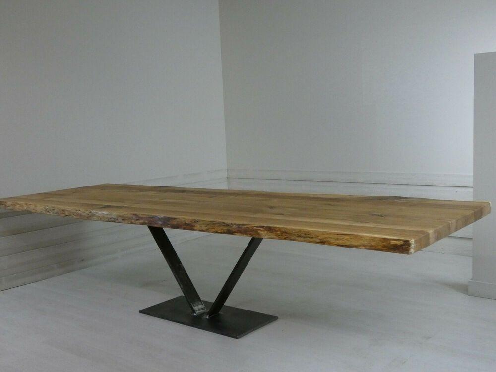 Unikat Holztischplatte Eiche Esstisch 320 X 105 Cm Esszimmertisch Holztischplatte Esszimmertisch Couchtisch Diy