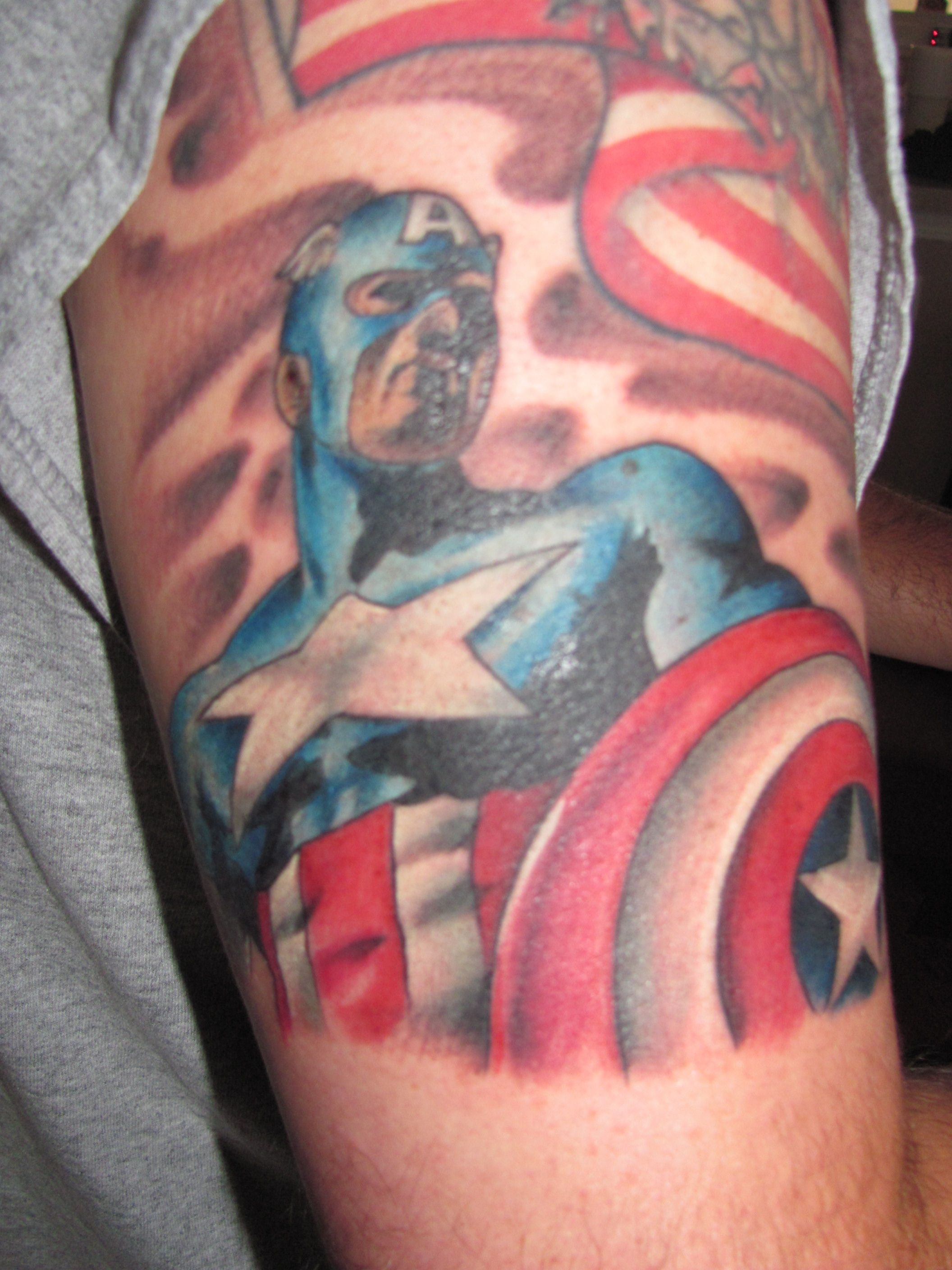 another great tattoo, yes we're comic book nerds....artist--Jason Bullman, Charlotte, NC