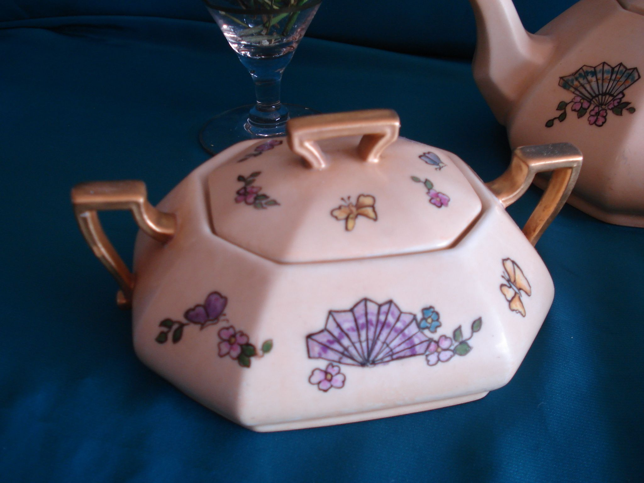 Azucarera Art Deco Limoges Hand Painted  Inf- 15-30144082 mailto:retroteaan... Face; Retrotea andcoffee