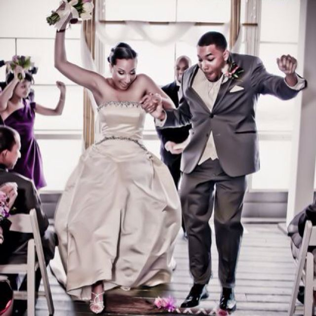 Bride And Groom Jumping The Broom Jumping The Broom Is A Symbol Of