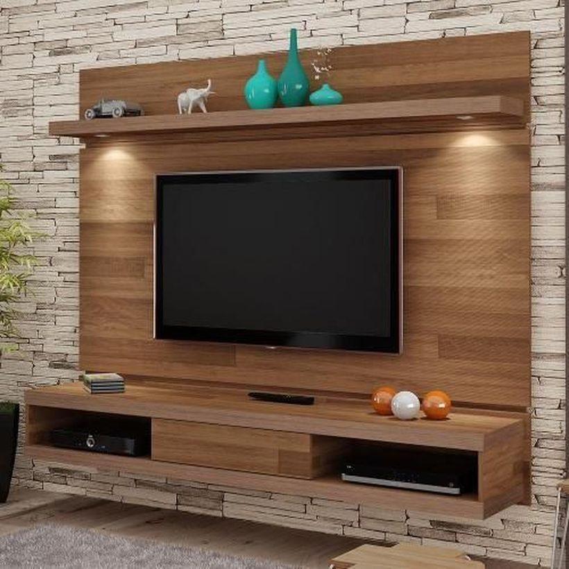 46 Rustic Tv Wall Design Ideas For Home Idee Meuble Tv Deco Meuble Tele Deco Meuble Tv