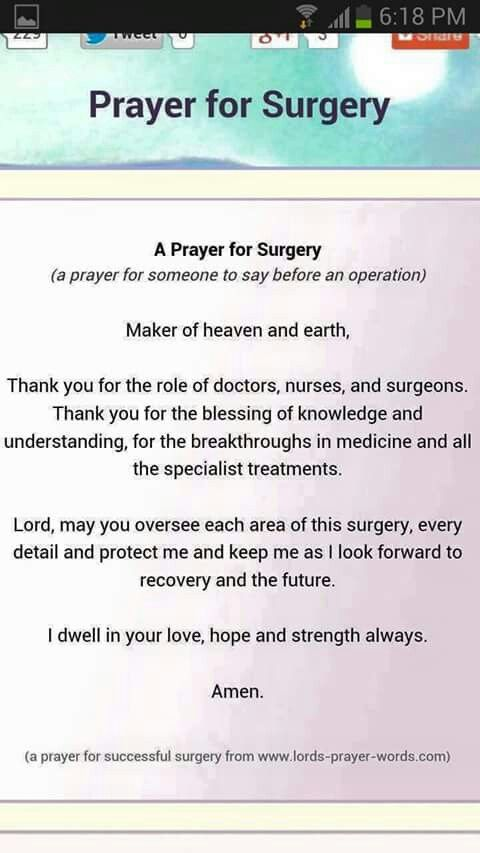 Prayer for surgery: going in for a lumpectomy tomorrow. I will take any prayers/positive thoughts!