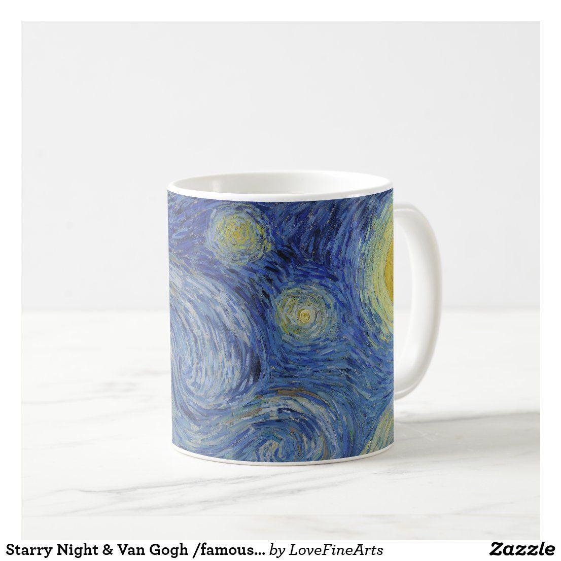 Starry Night Van Gogh Famous Vintage Art Coffee Mug Zazzle Com In 2021 Starry Night Van Gogh Vintage Art Starry Night Painting
