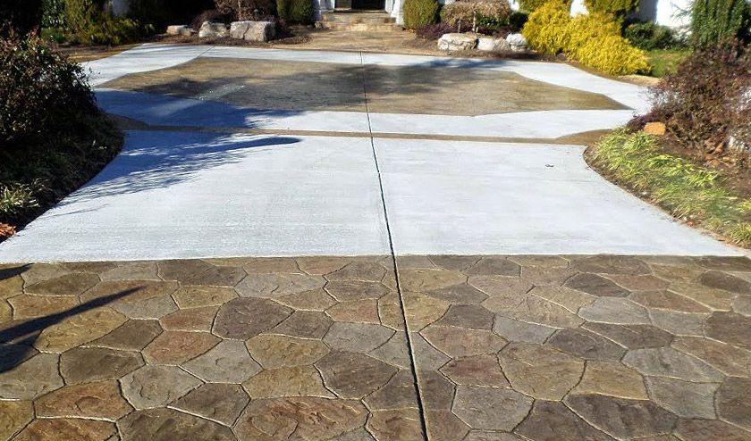 stamped concrete driveway designs ideas concrete craft