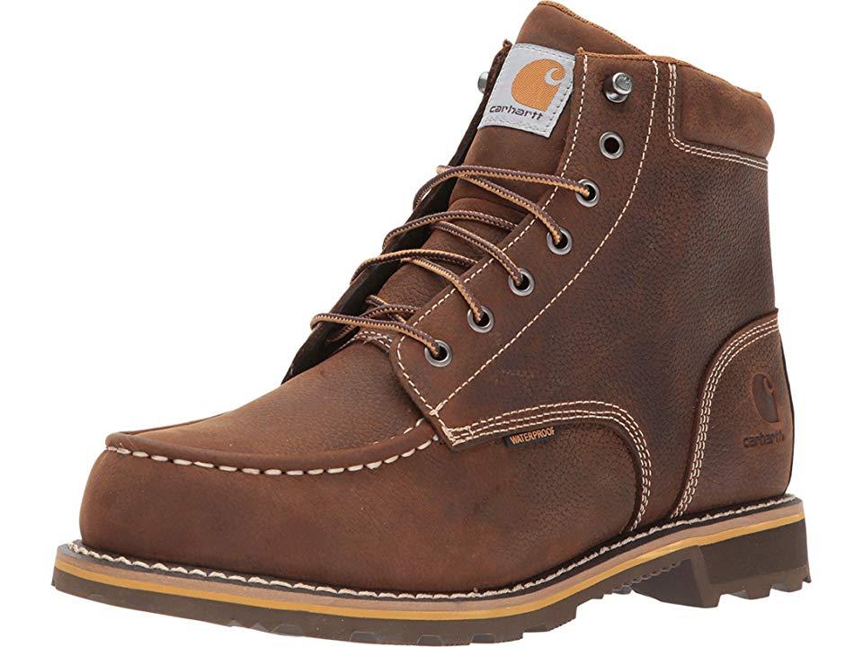6dda4c00dce Carhartt 6 Moc Toe Lug Men's Work Boots Dark Bison Oil Tanned in ...