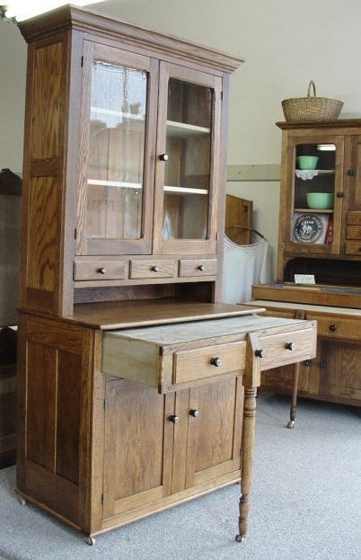 1900 kitchen   1900 oak 2 piece bakers kitchen cabinet with pull   out work surface 1900 oak 2 piece bakers kitchen cabinet with pull   out work      rh   pinterest com