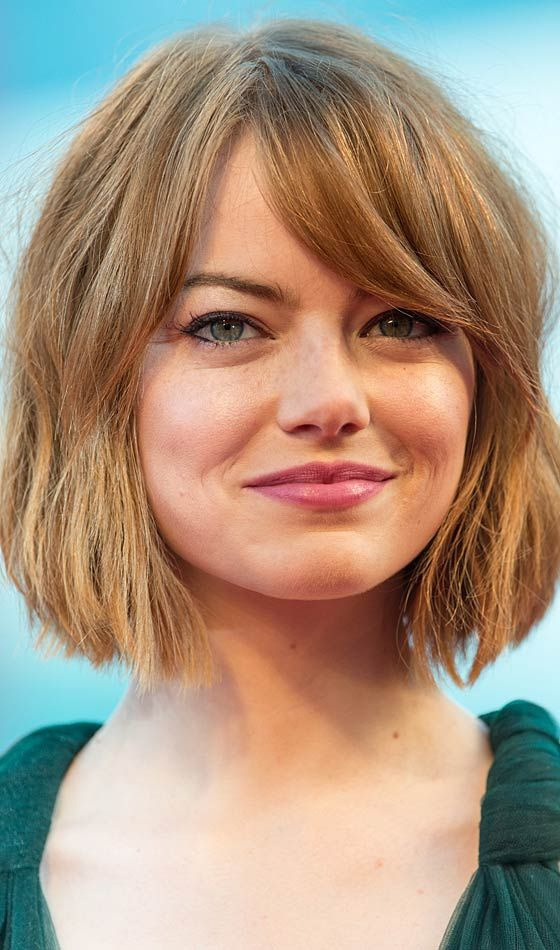 30 Best Round Faced Celebrity Hairstyles Short Bobs Hair Styles