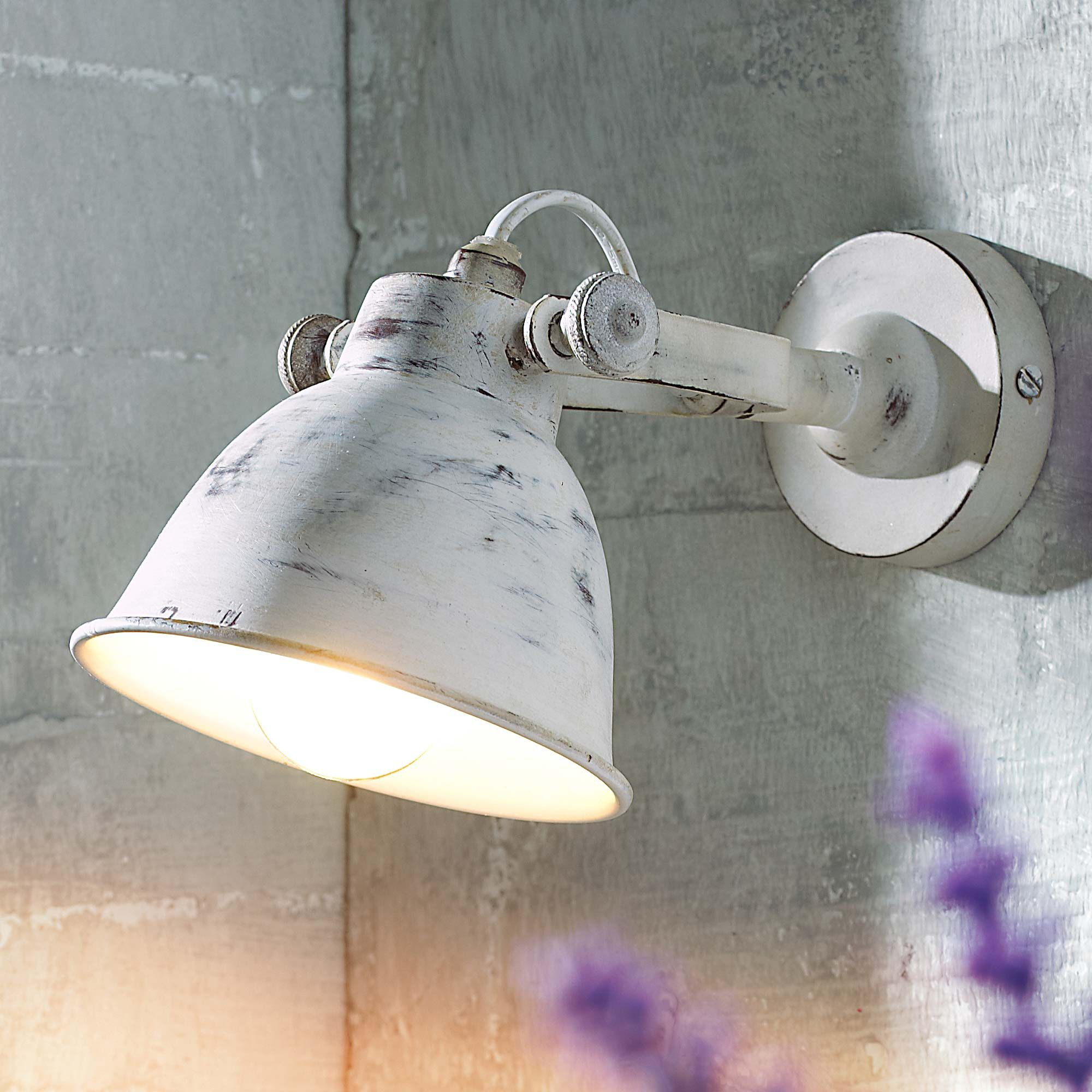 Wandleuchte Used Look Schirm Individuell Einstellbar Wandleuchten Leuchten Wohnen Wandleuchte Wandleuchte Vintage Wandlampe