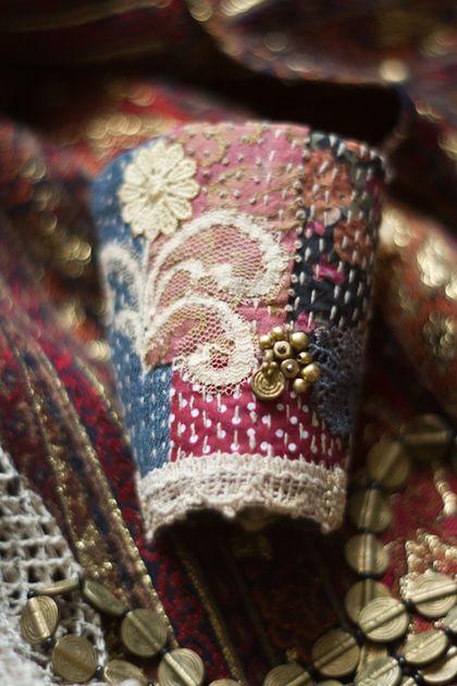 Браслеты ручной работы. Текстильный бохо браслет манжета. Алина Берёзкина. Интернет-магазин Ярмарка Мастеров. Пэчворк, текстильный браслет