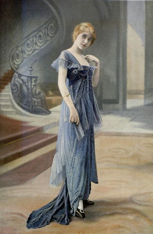 """"""" Les Modes May 1914. Evening dress by Laferriére, photo by Félix. """""""