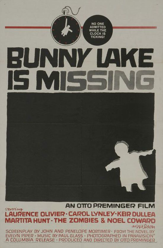 ... Bunny Lake Is Missing (1965)   Missing Posters Template ...  Missing Person Poster Template