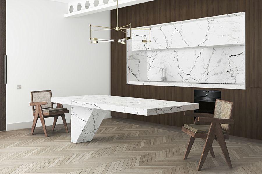 Wohntrend Marmor Moderne Kucheneinrichtung Fur Eine Luxuriose