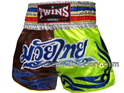 Twins special Twins Special Muay Thai shorts -Tattoo Brown/Green for sale.  [TBS-X-110]