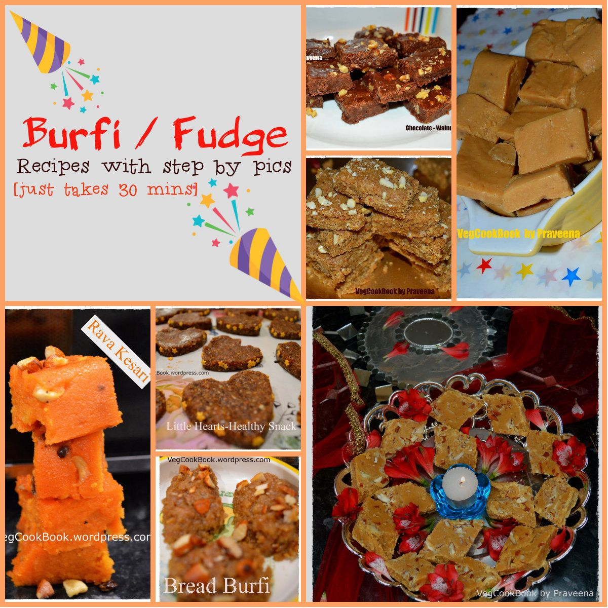 Indian Burfi Fudge Recipes Collection Fudge Recipes Recipe Collection Food Collage