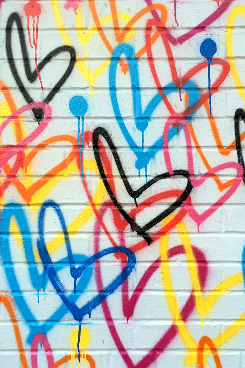 Love wall hearts by j goldcrown nyc