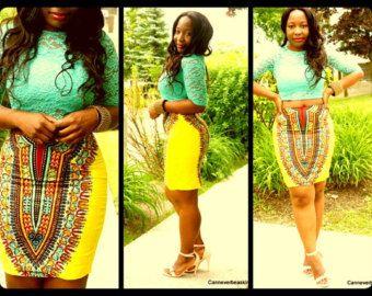 Dashiki mini skirt