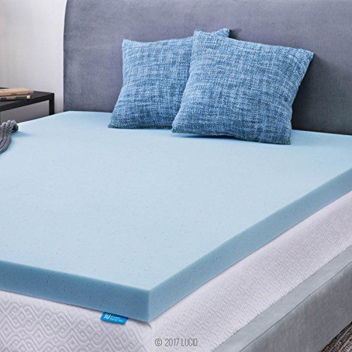 Lucid 3 Inch Gel Memory Foam Mattress Topper Queen Mattress
