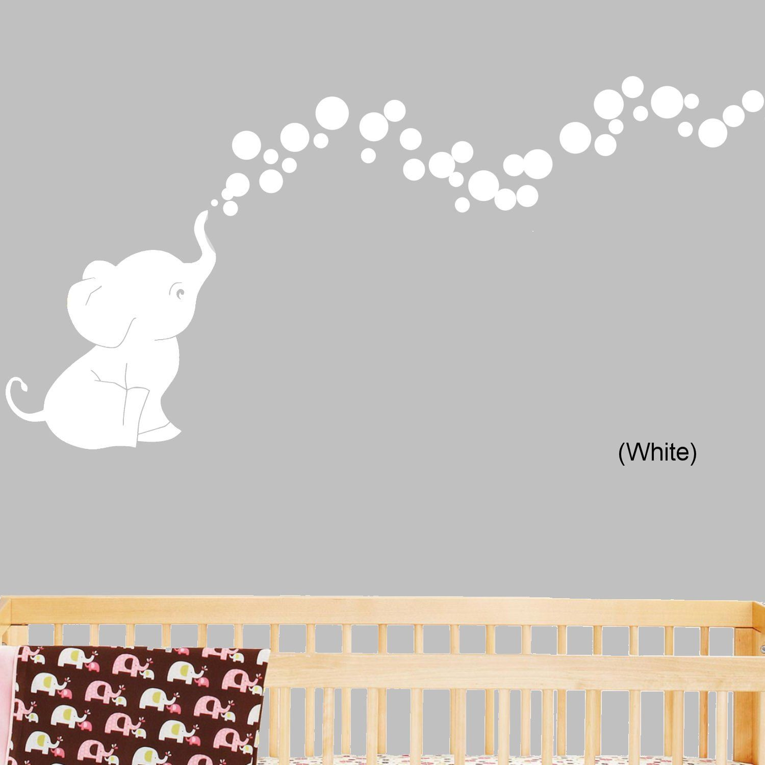 Amazon elephant bubbles nursery wall decal set grey amazon elephant bubbles nursery wall decal set grey nursery wall amipublicfo Gallery