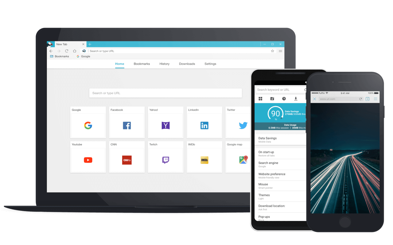 Puffin Browser - The magic is in the cloud  | 〄點 | Clouds, Desktop