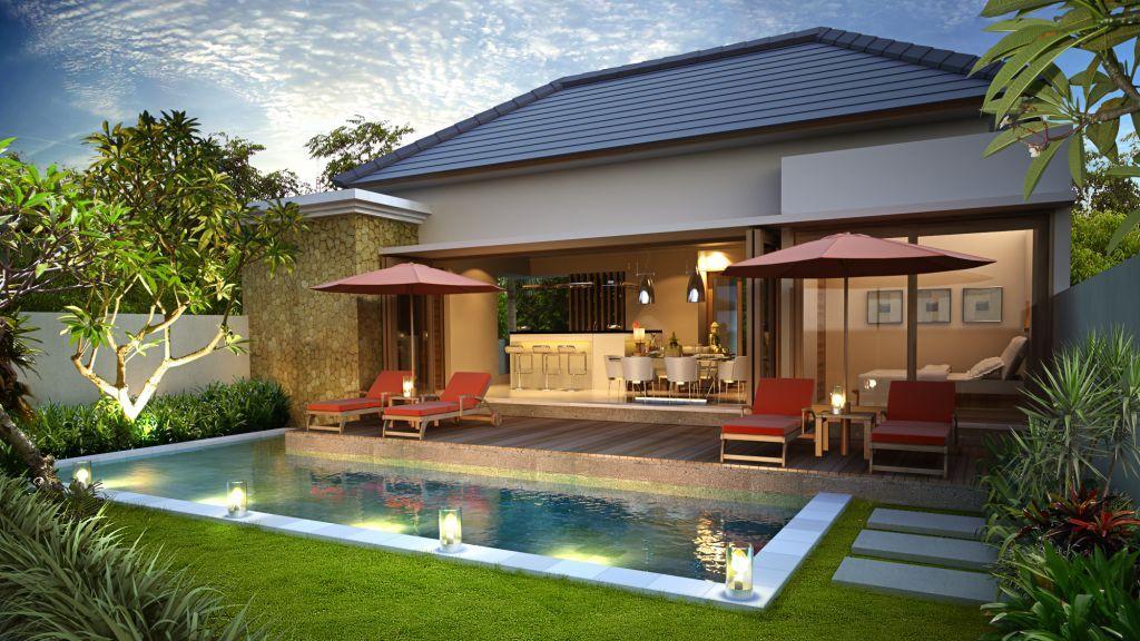 Gambar Desain Rumah Villa Minimalis Villa Kolam Renang Mewah