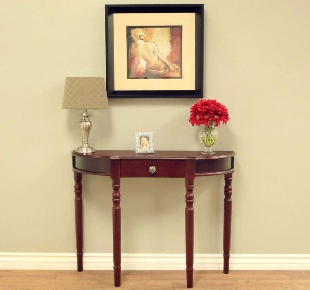 Home Decor Table Part - 30: Details About Modern Storage Console Table With Drawer Dark Walnut Finish Home  Decor